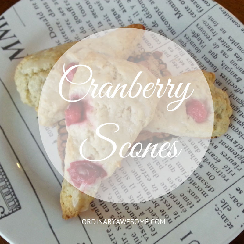 Cranberry Scones from ordinaryawesome.com