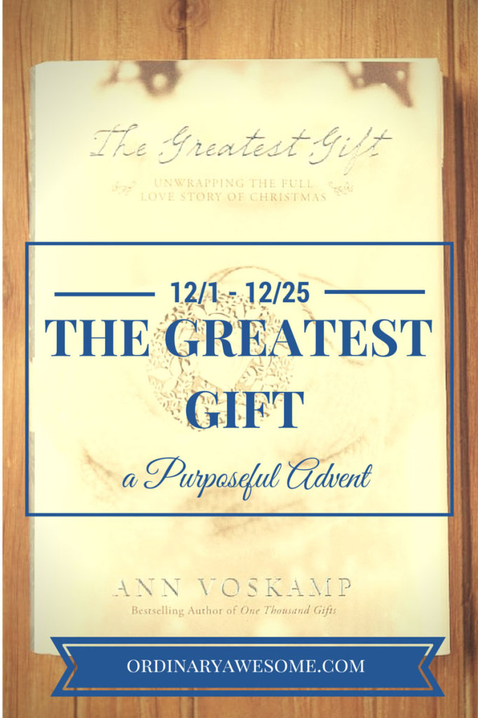 The Greatest Gift Book Club {A Purposeful Advent}