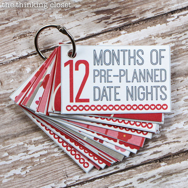 12 Months of Pre-Planned Dates from The Thinking Closet - Valentines roundup on ordinaryawesome.com